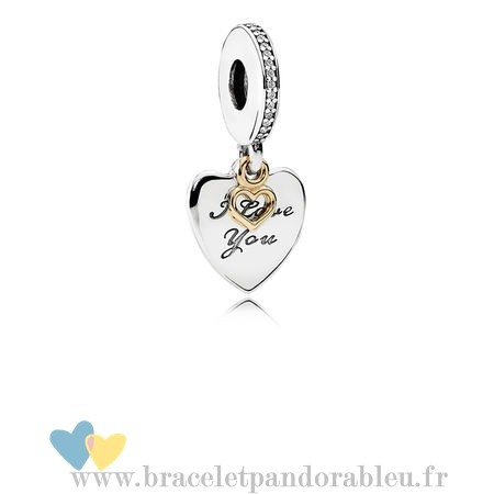 Bon Achat Pandora Pandora Dangle Charms Amour Vous Toujours Dangle Charm Clear Cz