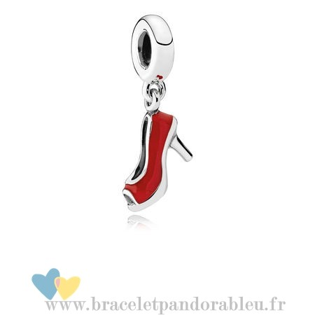 Bon Achat Pandora Pandora Passions Charms Chic Breloque Glamour Red Stiletto Red Enamel