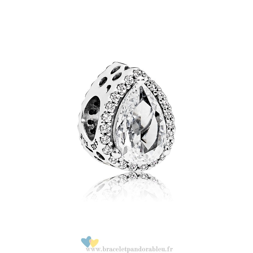 Bon Achat Pandora Pandora Passions Charms Chic Charme Glamour Radiant Teardrop Clear Cz
