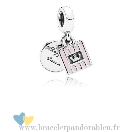 Bon Achat Pandora Pandora Passions Charms Chic Glamour Achats Queen Dangle Charm Soft Rose Email