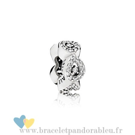 Bon Achat Pandora Pandora Passions Charms Chic Glamour Cascading Glamour Spacer Clear Cz