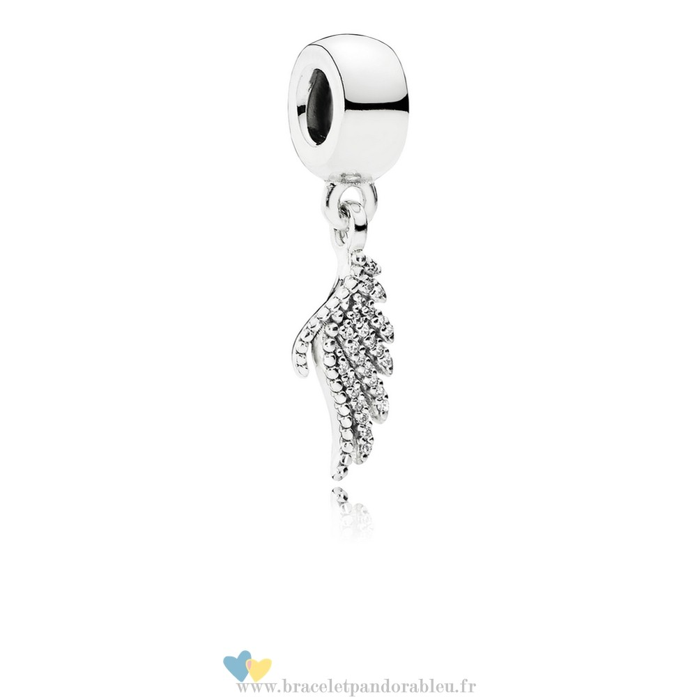 Bon Achat Pandora Pandora Passions Charms Chic Glamour Majestueux Feather Dangle Charm Clear Cz