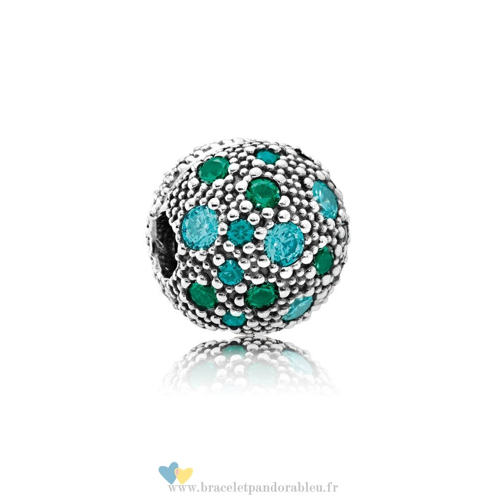 Bon Achat Pandora Pandora Toucher De Couleur Charms Cosmic Etoiles Multi Coloured Crystals Teal Cz