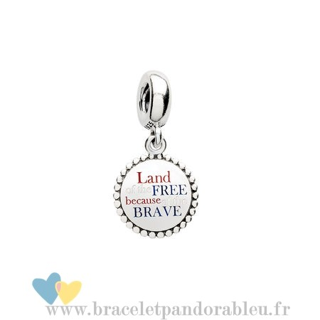 Bon Achat Pandora Pandora Vacances Charms De Voyage Land Of The Gratuit En De La Brave Dangle Charm Red Blanc Blue Email