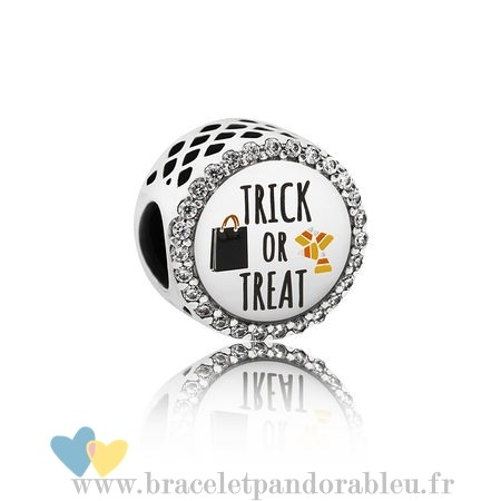 Bon Achat Pandora Pandora Vacances Charms Halloween Trick Or Treat Charm Mixed Email Clear Cz
