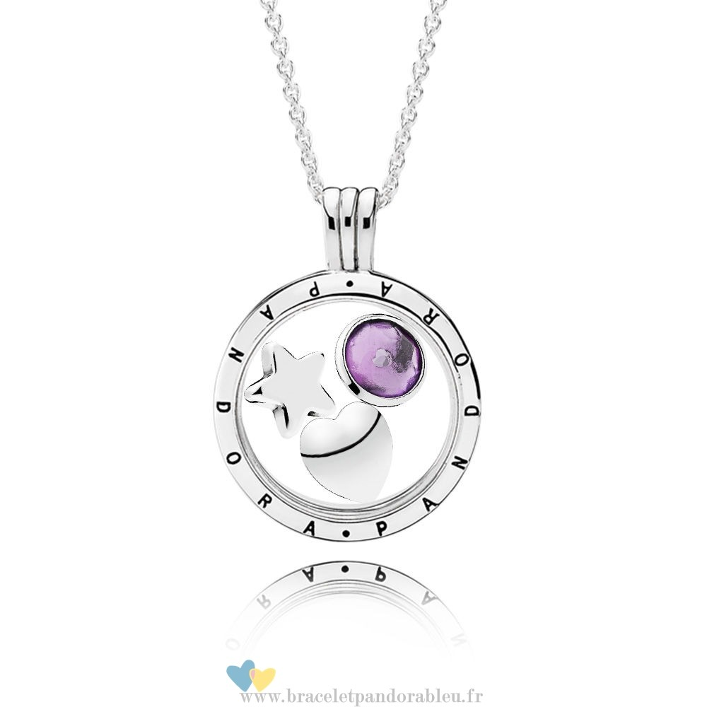 Bon Achat Pandora February Birthstone Floating Locket Gift Set