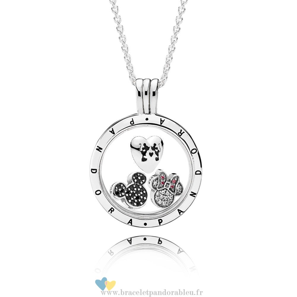 Bon Achat Pandora Pandora Disney Sparkling Mickey Floating Locket Set