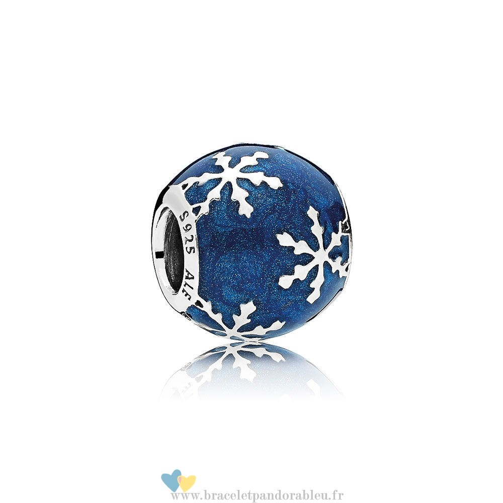 Bon Achat Pandora Nature Charms Charme Delice Midnight Blue Enamel