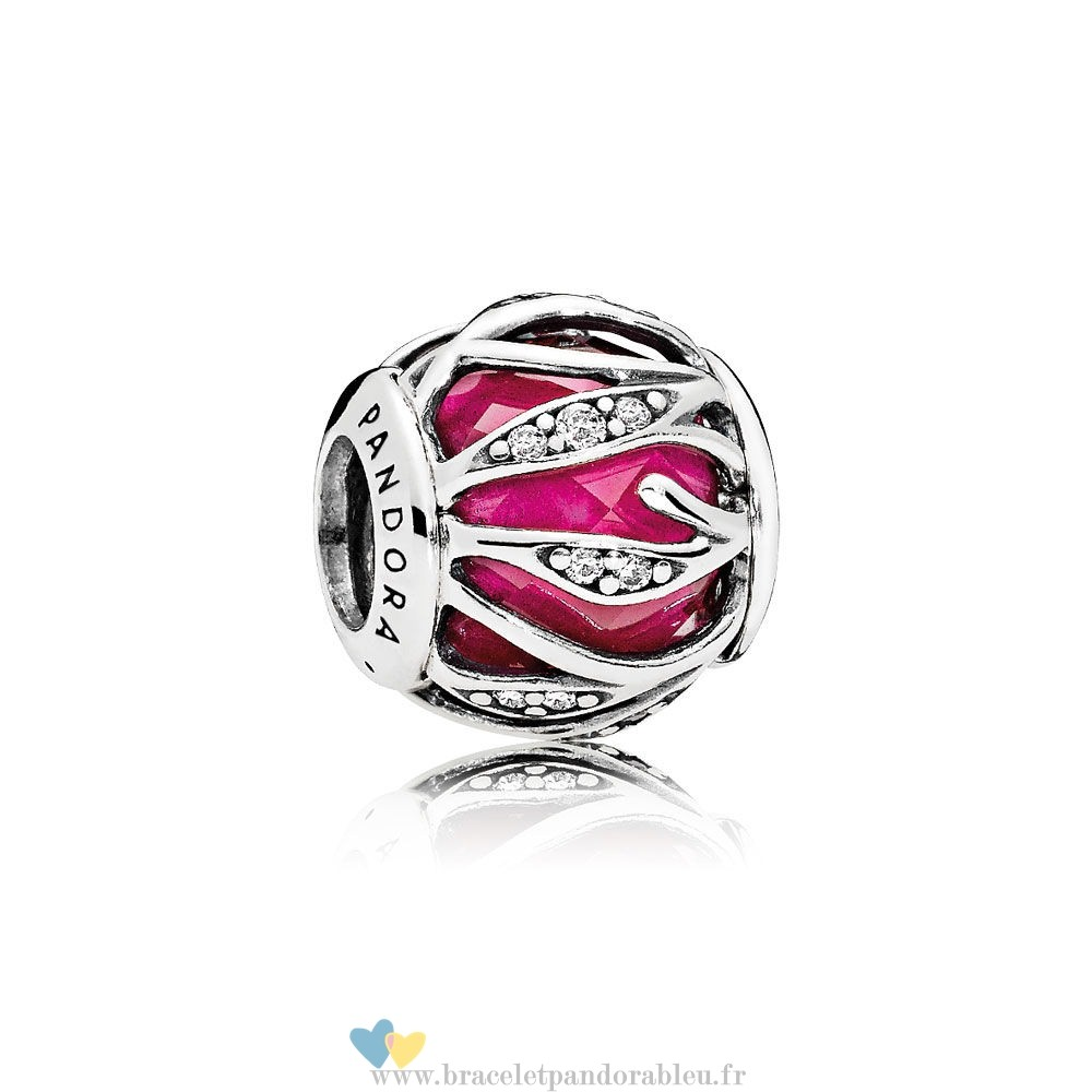 Bon Achat Pandora Nature Charms Nature'S Radiance Synthetique Ruby Clear Cz