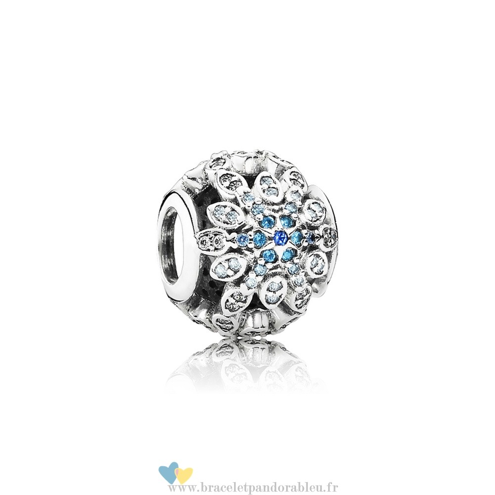 Bon Achat Pandora Pandora Nature Charms Crystalized Flocons De Neige Charm Blue Crystals Clear Cz
