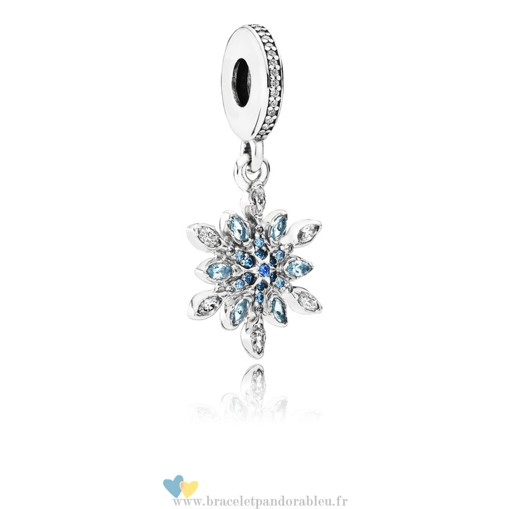Bon Achat Pandora Pandora Nature Charms Crystalized Snowflake Dangle Charm Blue Crystals Clear Cz