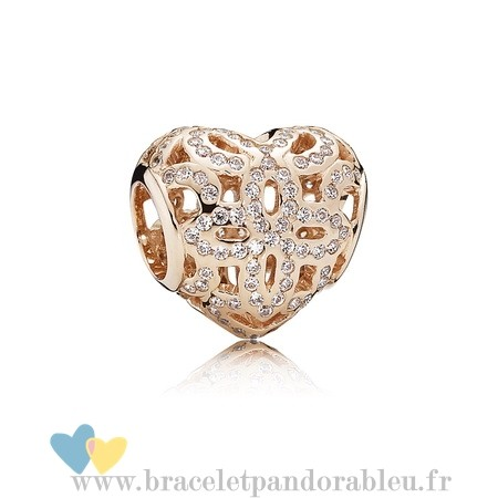 Bon Achat Pandora Amour Appreciation Charme Pandora Rose Clear Cz