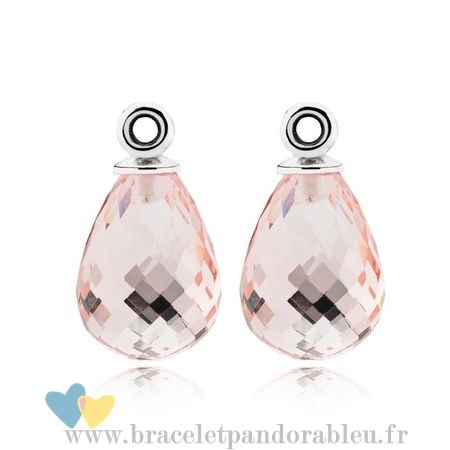 Bon Achat Pandora Fascinating Beauty Boucles D'Oreilles Charms Rose Murano Glass
