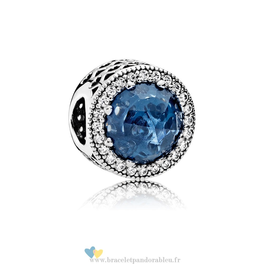 Bon Achat Pandora Collection Coeurs De Radiant Moonlight Blue Crystal Clear Cz